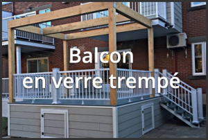 Balcon en verre trempé - Rampes aluminium Mirabel