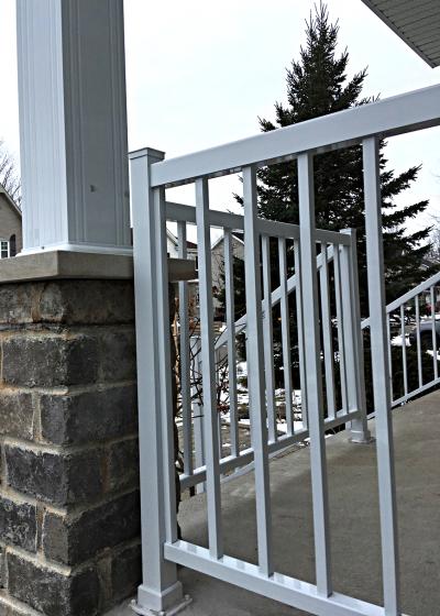 rampe et colonne aluminium blanc