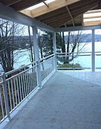 Balcony lakeside - aluminium railing