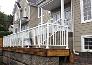 White excel railing