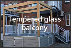 Tempered glass balcony