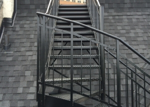 Black welded stairs