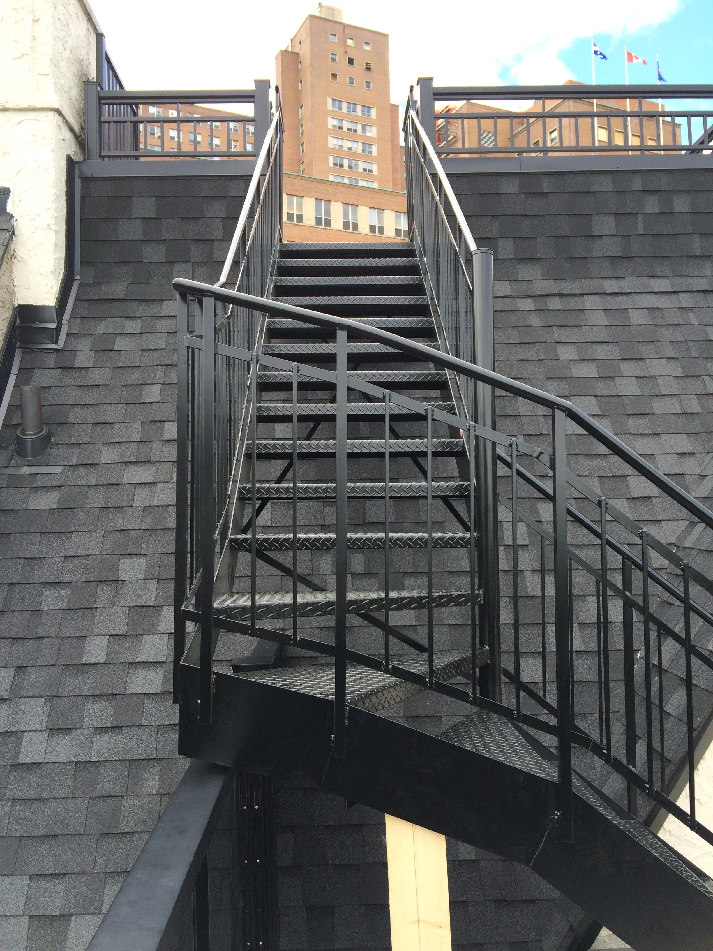 Black welded stairs